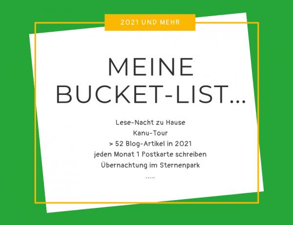 Bucket-Liste für 2021